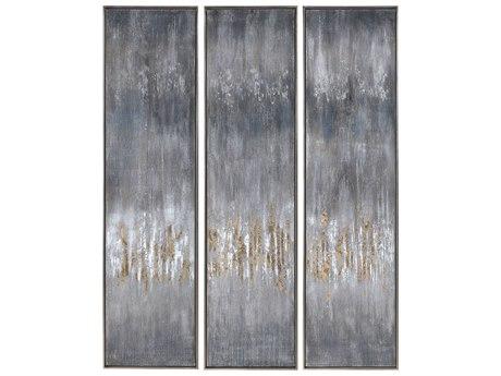 Uttermost Gray Canvas Wall Art (Set of 3)