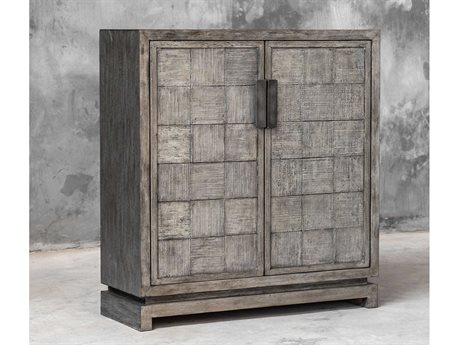 Uttermost Hamadi Distressed Gray / Aged Steel Accent Chest UT25444