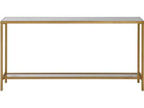 Uttermost Hayley Antique Gold Leaf 60''L x 10''W Rectangular Console Table UT24685