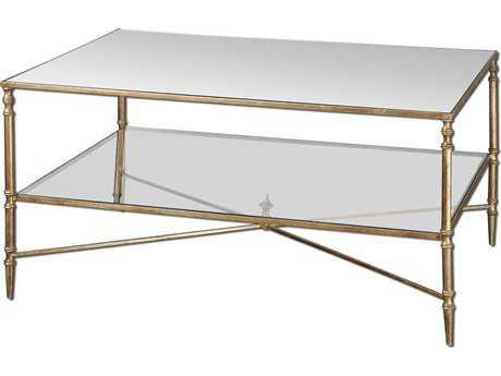 Uttermost Henzler 37.75 x 28 Rectangular Mirrored Glass Coffee Table