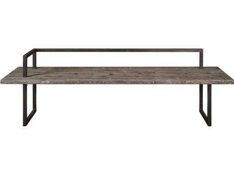 Uttermost Herbert Antique White Wash & Aged Black Bench UT24701