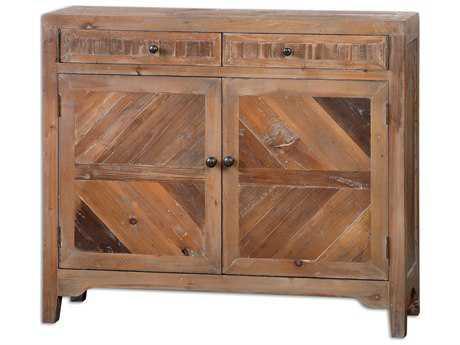 Uttermost Hesperos 42 x 10 Rectangular Reclaimed Wood Console Cabinet UT24415