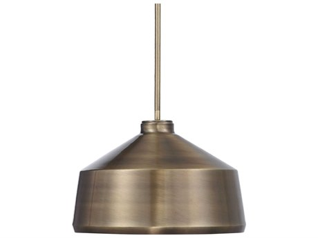 Uttermost Holgate Oxidized Aged Brass One-Light 14'' Wide Pendant
