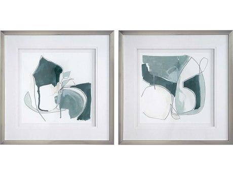 Uttermost Idlewild Glass Wall Art (Set of 2)