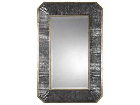 Uttermost Isaiah Burnished Bronze with Silver & Golden Champagne 32''W x 48''H Rectangular Wall Mirror UT09087