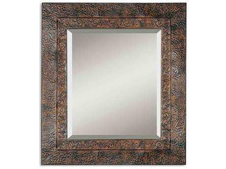 Uttermost Jackson 30 x 34 Rustic Metal Wall Mirror UT11182B