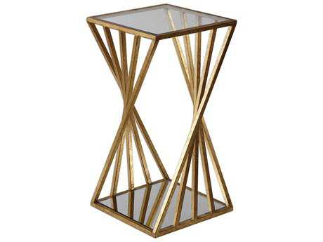 Uttermost Janina Gold Leaf 13'' Square Accent Table