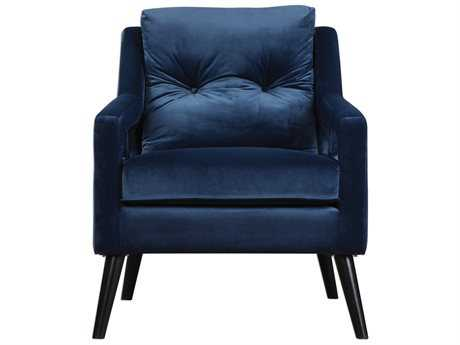 Uttermost Jim Parsons O'Brien Ink Blue / Antique Black Armchair UT23318