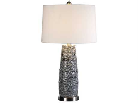 Uttermost Jim Parsons Cortinada Stone Gray Buffet Lamp UT27219