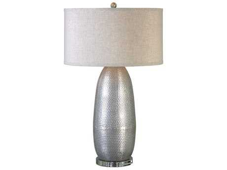 Uttermost Jim Parsons Tartaro Industrial Silver Buffet Lamp UT271211