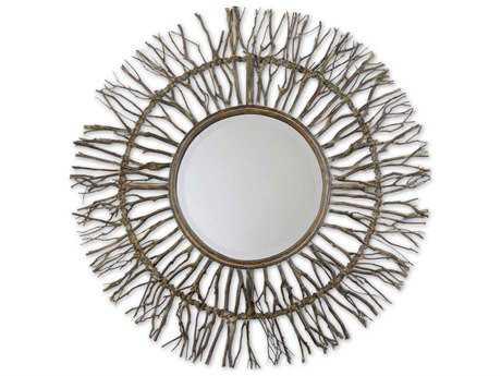 Uttermost Josiah 38 Round Woven Wall Mirror UT13705