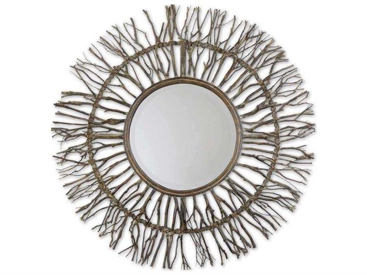Uttermost Josiah 38 Round Woven Wall Mirror