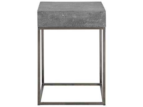 Uttermost Jude Concrete & Stainless Steel 14'' Square Accent Table