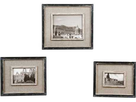Uttermost Kalidas Cloth Lined Photo Frames (3 Piece Set) UT18537