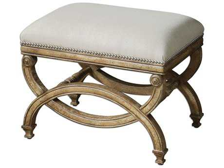 Uttermost Karline Natural Linen Stool