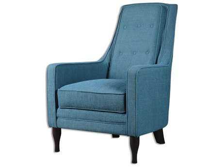 Uttermost Katana Peacock Blue Accent Chair