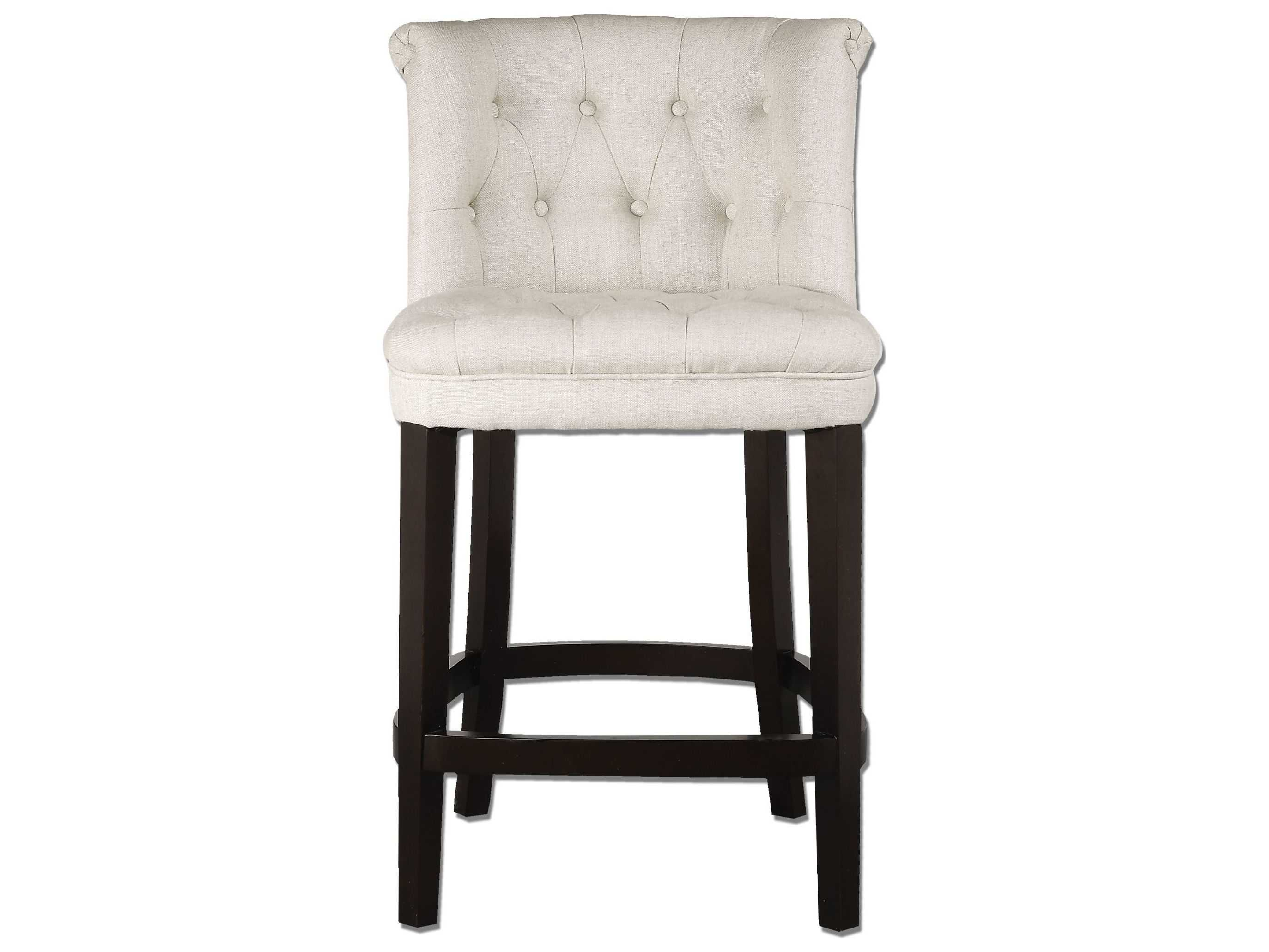 Swell Uttermost Kavanagh Tufted White Linen Counter Stool Gmtry Best Dining Table And Chair Ideas Images Gmtryco