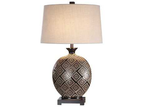 Uttermost Kelda Gloss Black Table Lamp UT275261