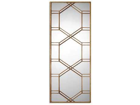 Uttermost Kennis 29 x 70 Gold Leaf Leaner Floor Mirror