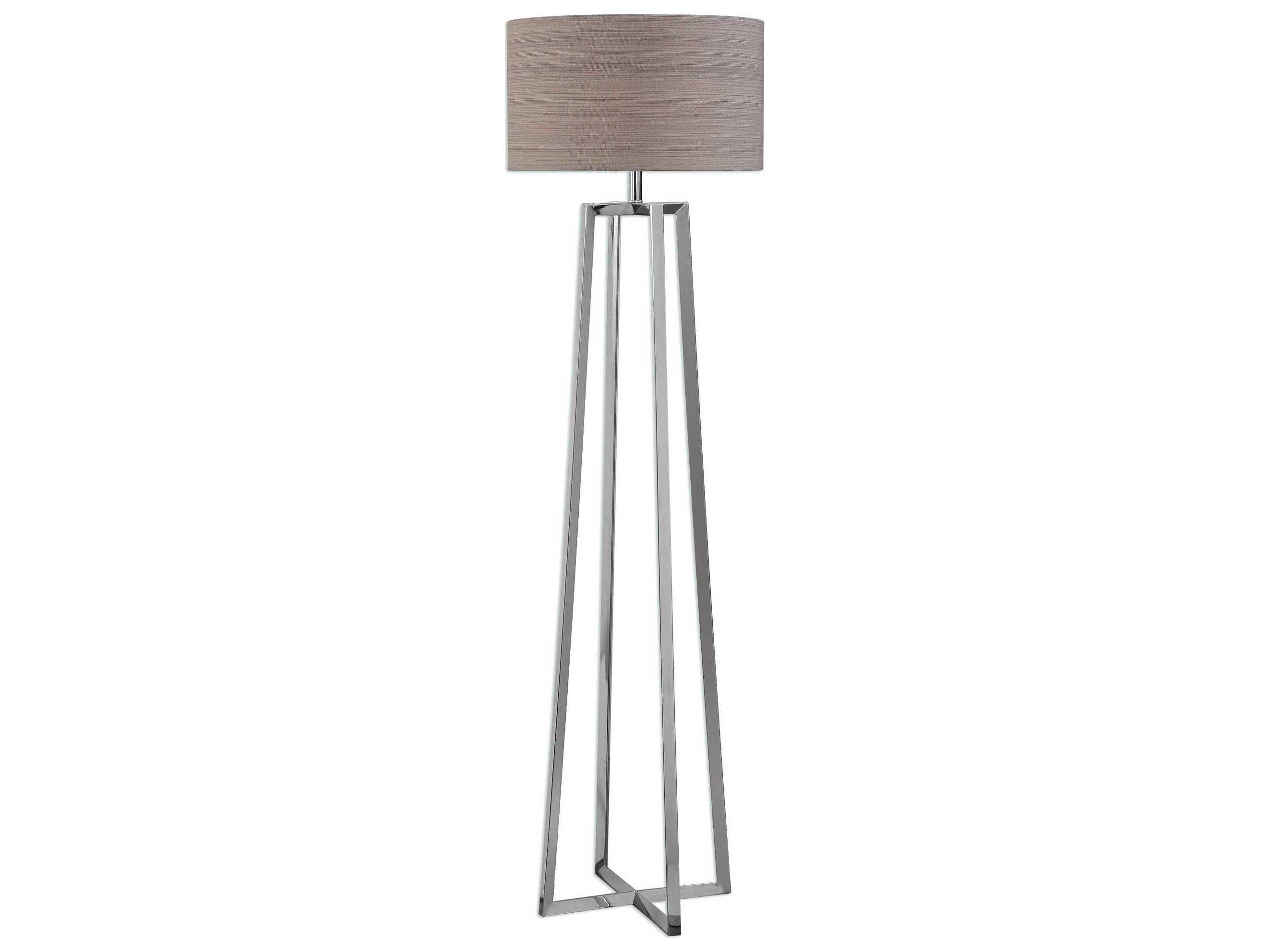 cheap for discount c8fcb bc584 Uttermost Keokee Polished Stainless Steel Floor Lamp