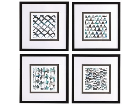 Uttermost La Mer Glass Wall Art (Set of 4)