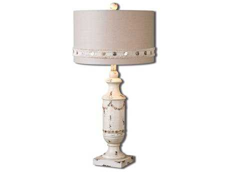 Uttermost Lacedonia Distressed Ivory Table Lamp UT261981