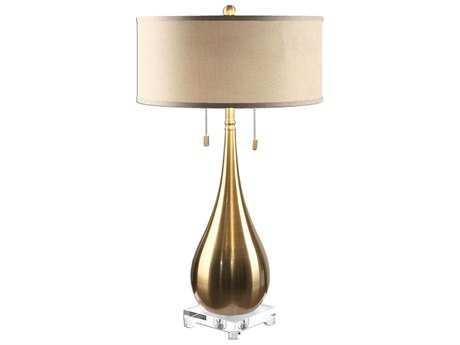 Uttermost Lagrima Brushed Brass Two-Light Table Lamp UT270481