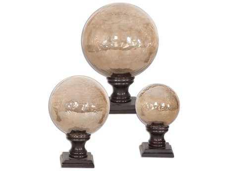 Uttermost Lamya Glass Globe Finials (3 Piece Set) UT19563