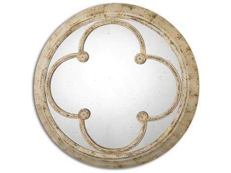 Uttermost Livianus 37 x 37 Round Metal Wall Mirror UT13884