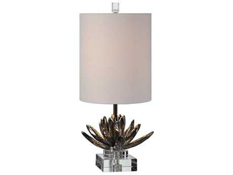 Uttermost Silver Lotus Antique Metallic Silver Table Lamp