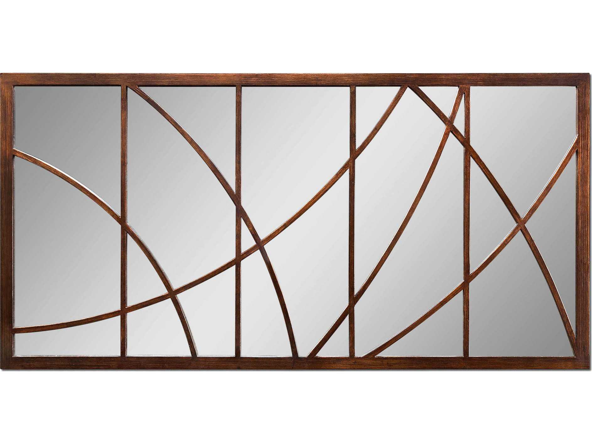 Bronze Wall Mirror: Uttermost Loudon 60 X 30 Large Bronze Wall Mirror