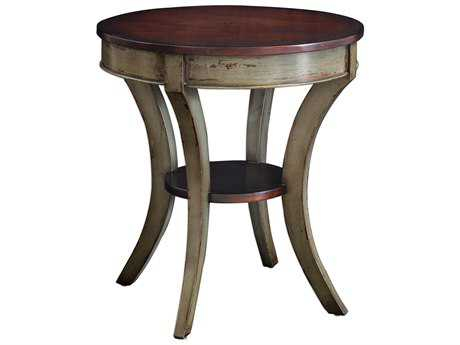 Uttermost Loukas Mahogany & Charcoal Gray 28'' Round Lamp Table