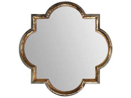 Uttermost Lourosa 40 x 40 Gold Wall Mirror UT12862