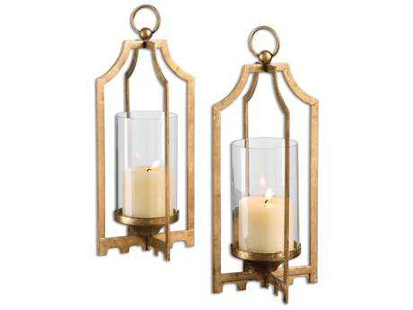 Uttermost Lucy Golds Candle Holder (Set of 2)