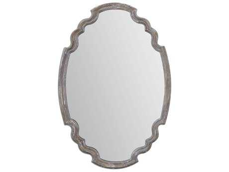 Uttermost Ludovica 24 x 35 Aged Wood Wall Mirror UT14483