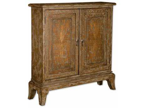 Uttermost Maguire 35 x 9 Distressed Console Cabinet UT25526