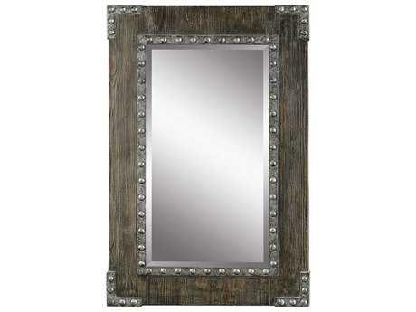 Uttermost Malton Aged Wood 24.5''W x 36.5''H Rectangular Wall Mirror UT09137