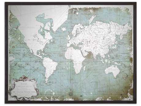 Uttermost Mirrored World Map UT30400