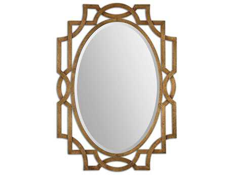Uttermost Margutta 30 x 41 Gold Oval Wall Mirror