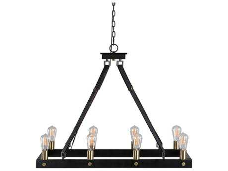 Uttermost Marlow Dark Antique Bronze & Weathered Bronze Eight-Light 36.5'' Wide Island Light UT21279