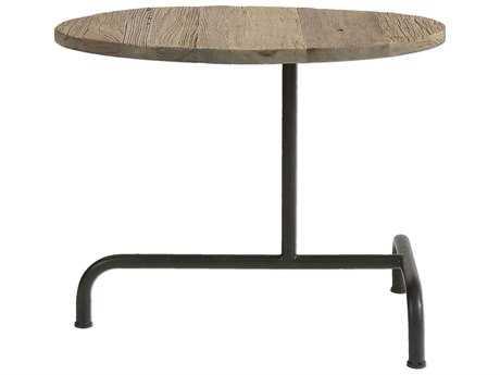 Uttermost Martez 14 x 25 Oval Industrial Black Pedestal Table UT24531