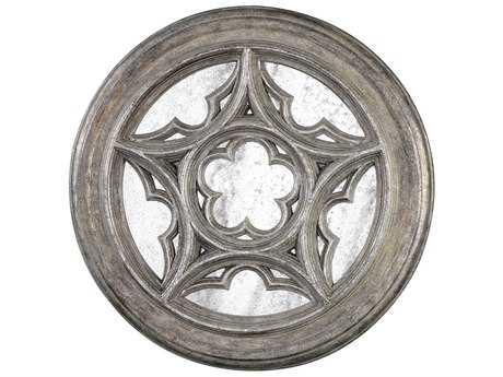 Uttermost Marwin Antique Silver Leaf Round Window Mirror UT04097