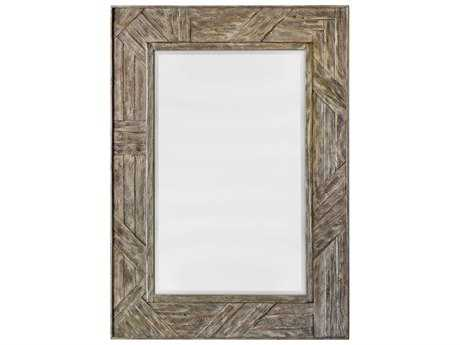 Uttermost Fortuo Mahogany Wood Mirror