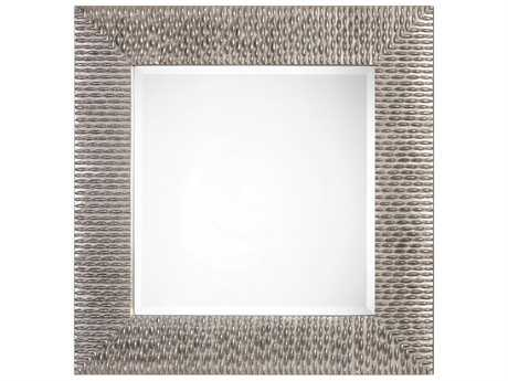 Uttermost Matthew Williams Cressida Distressed Silver Square Mirror