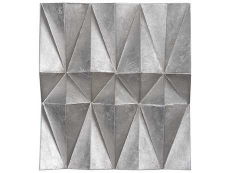 Uttermost Maxton Champagne Silver Leaf Multi-Faceted Panels (Set of Three)