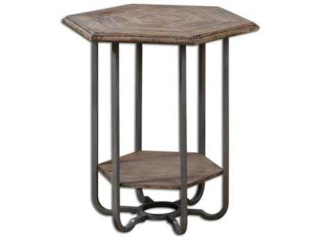 Uttermost Mayson 25 x 21.75 Octagon Wooden Accent Table UT24378