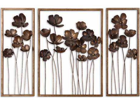 Uttermost Metal Tulips Wall Art (3 Piece Set) UT12785