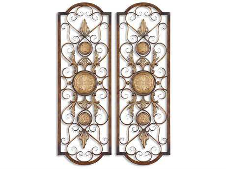 Uttermost Micayla Antique Metal Panels (2 Piece Set) UT13475