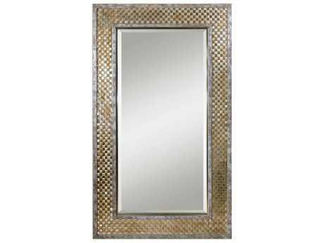 Uttermost Mondego 73 x 43 Rectangular Brushed Nickel Woven Wall Mirror UT07698