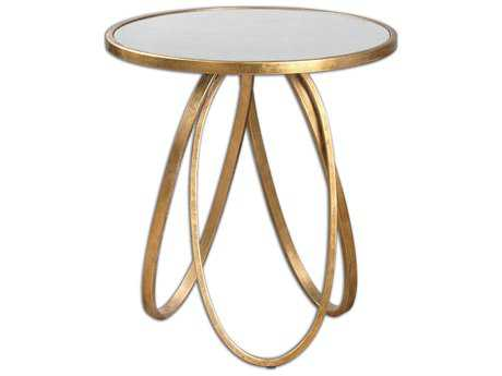 Uttermost Montrez 24 Round Gold Accent Table